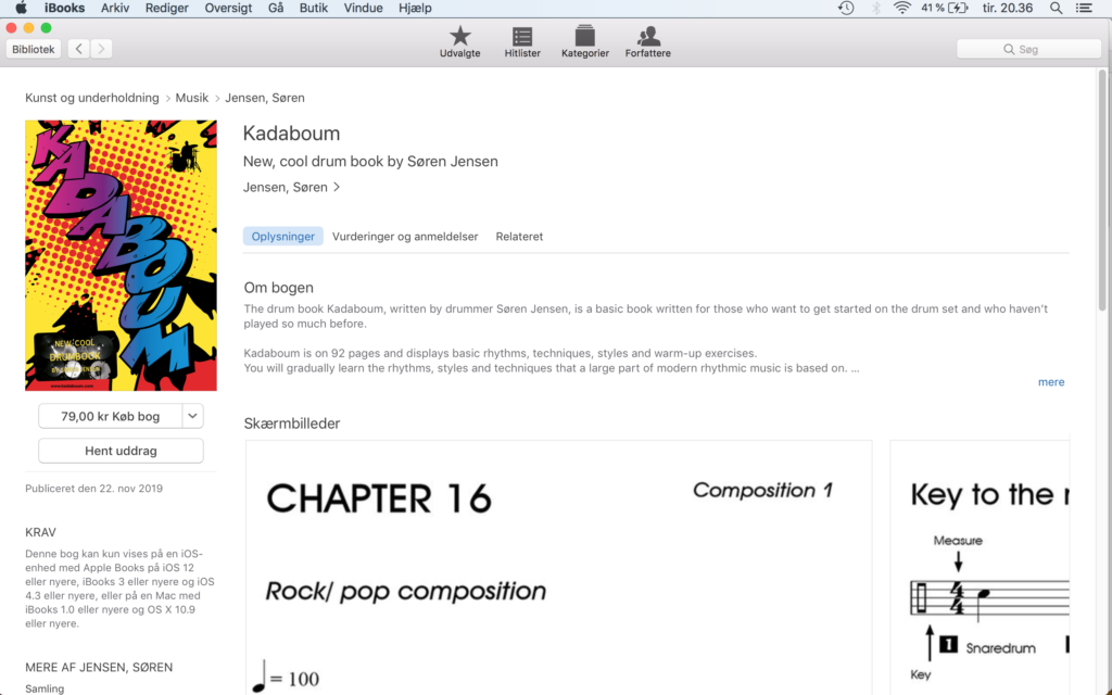 Picture of Kadaboum on iBooks/ iTunes.